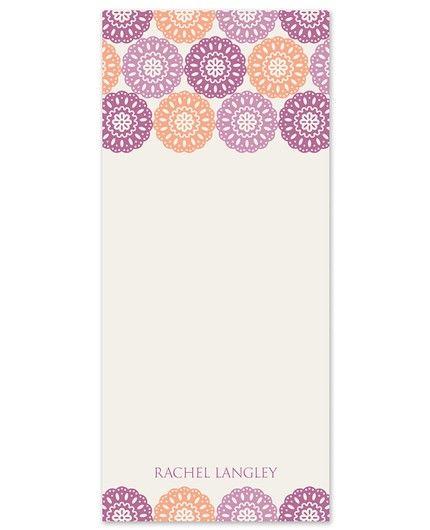 Modern Lace Note Pad