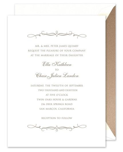 Fanciful Flourish Invitation