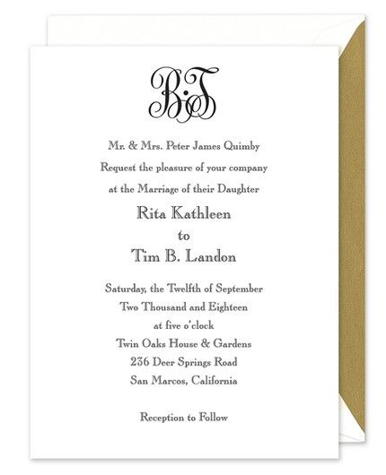 Bright White Invitation