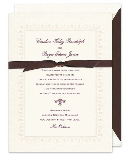 Lace Border Invitation