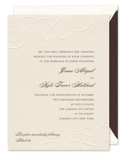Embossed Flourish Invitation