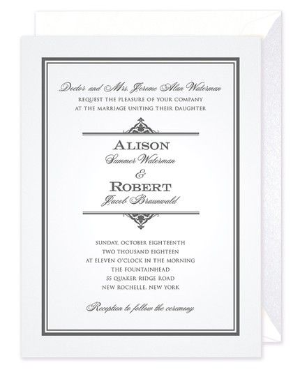 Pearlized Border Invitation