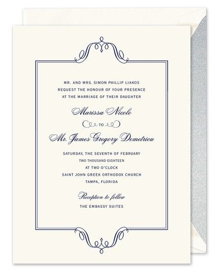 Regal Frame Invitation