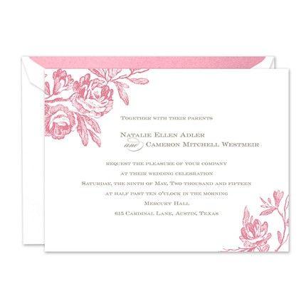 Antique Roses Invitation