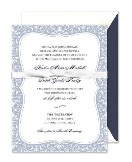 Elegant Damask Invitation