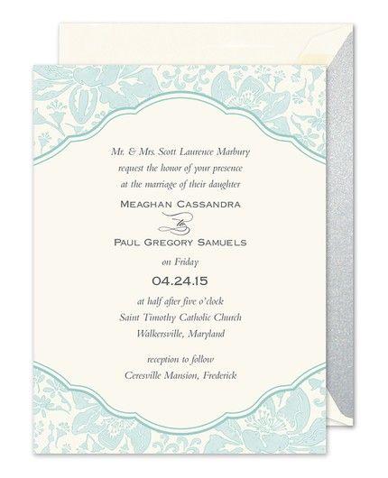Blue Botanical Invitation
