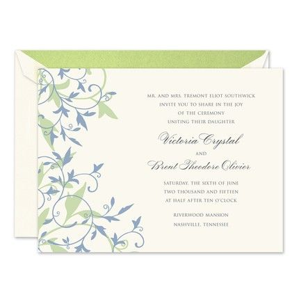 Lagoon Tendrils Invitation