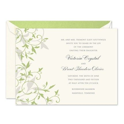 Celery Tendrils Invitation