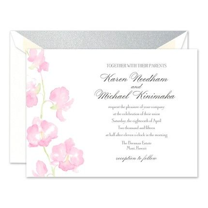 Watercolor Orchid Invitation