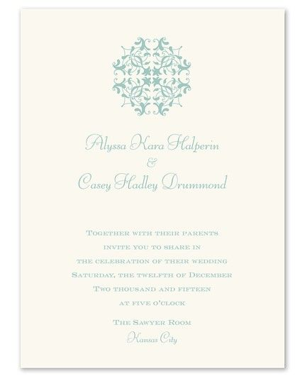 Pearlized Pocket Invitation