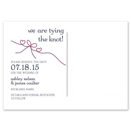 Tie the Knot Postcard