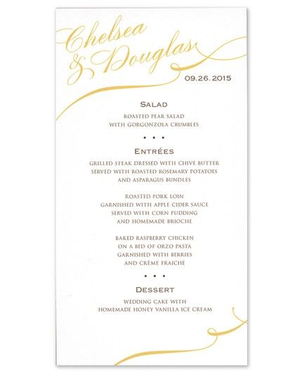 Swash Menu Card
