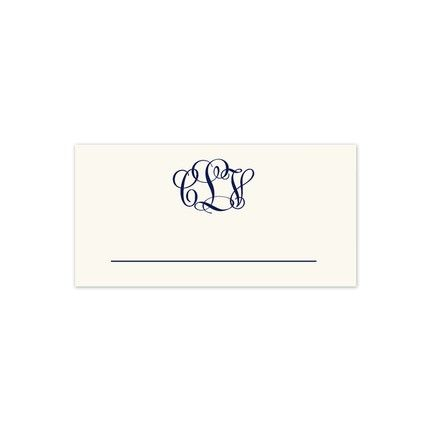 Warm White Place Card