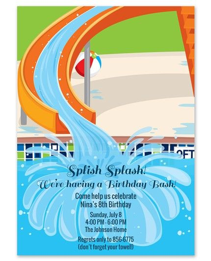 Pool Slide Invitation