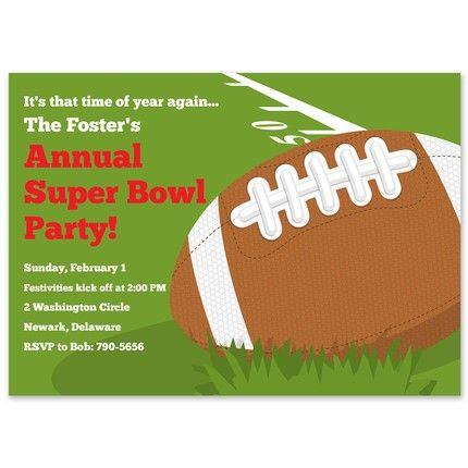 Football Fun Invitation