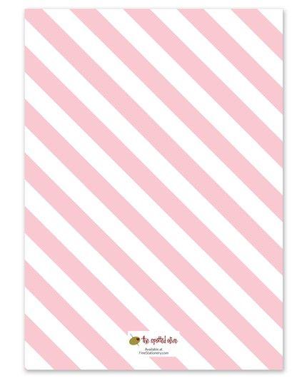 Sweet Stripes Invitation