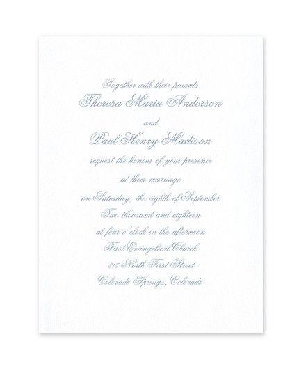 Satin Invitation