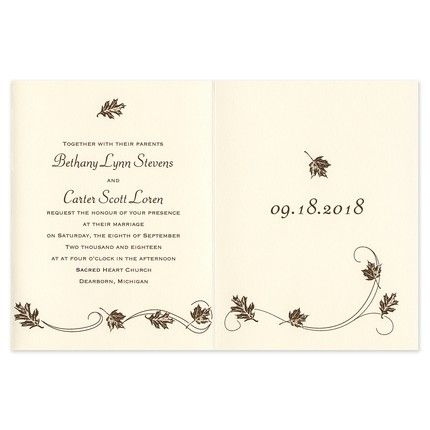 Fall in Love Invitation