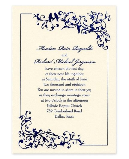 Filigree Flourish Invitation