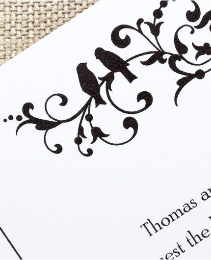Filigree Flourish Invitation