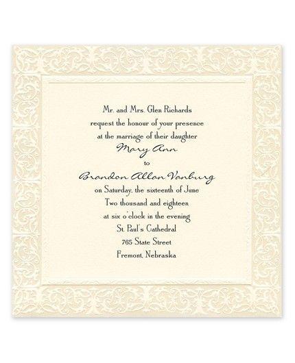 Filigree Invitation