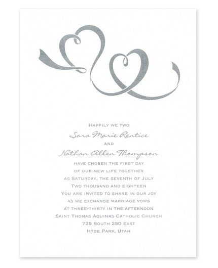 Two Hearts Invitation