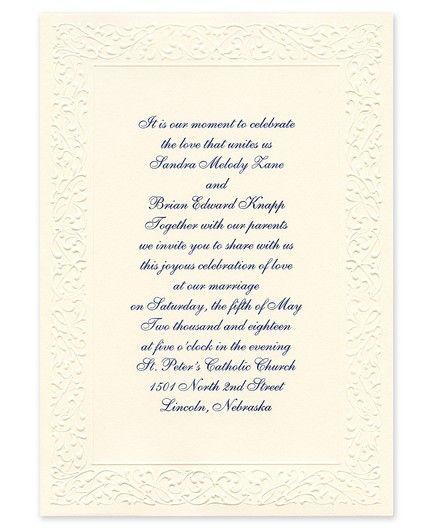 Ornate Ecru Invitation