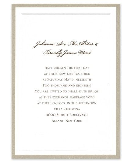 Ideal Taupe Invitation