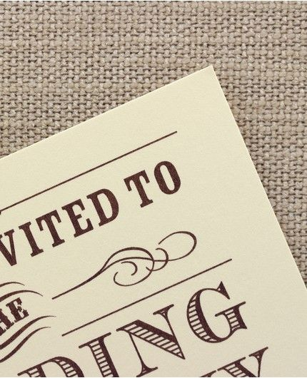 Vintage Charm Invitation