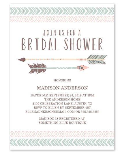 Aztec Shower Invitation
