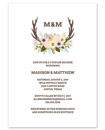 Floral Antlers Invitation