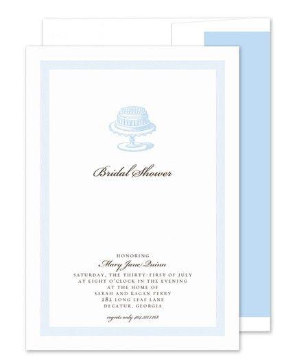Cakestand Invitation