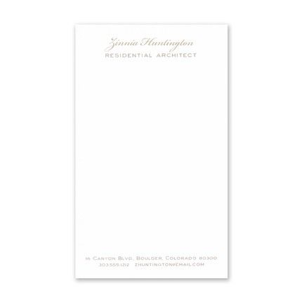 White Jotter Card