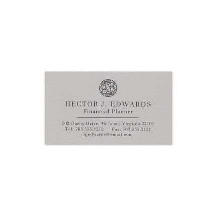 Moonstone Grey Business Card