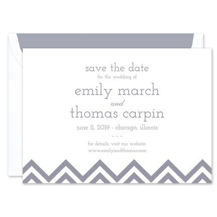 Chevron Save the Date