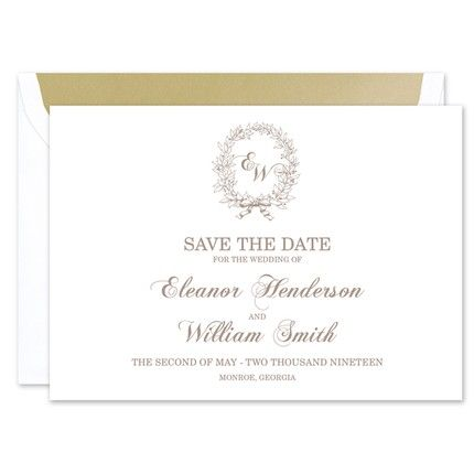 Classic Wreath Save the Date