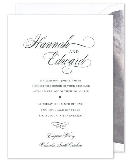 Splendid White Invitation