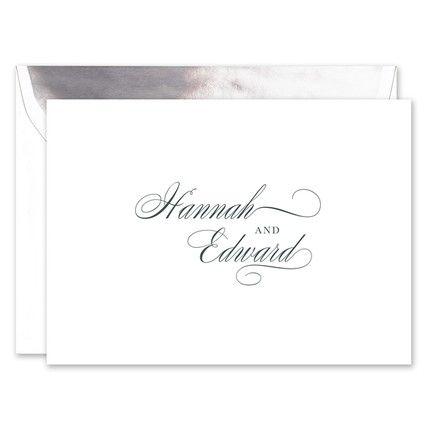 Splendid White Note Card
