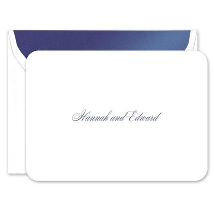 Rounded White Note Card