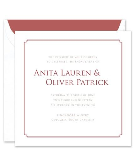 Marsala Frame Invitation