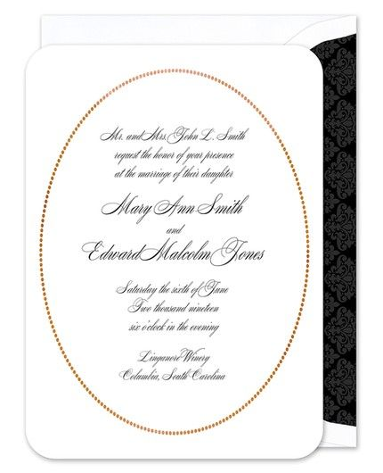 Rose Gold Oval Invitation