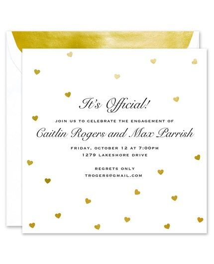 Foil Hearts Invitation