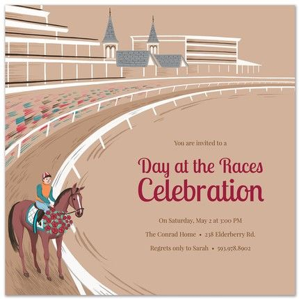 Race Track Invitation
