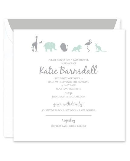 Animal Shower Invitation