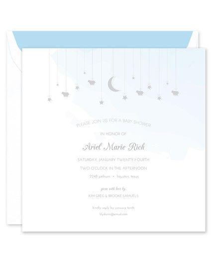 Blue Watercolor Invitation