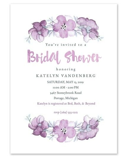 Lilac Florals Invitation