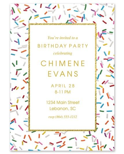 Sprinkle Birthday Invitation