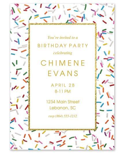 Sprinkle Birthday Invitation