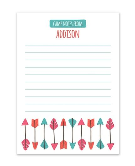 Colorful Arrows Flat Card