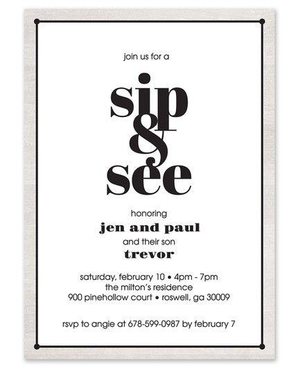 Classy Sip & See Invitation